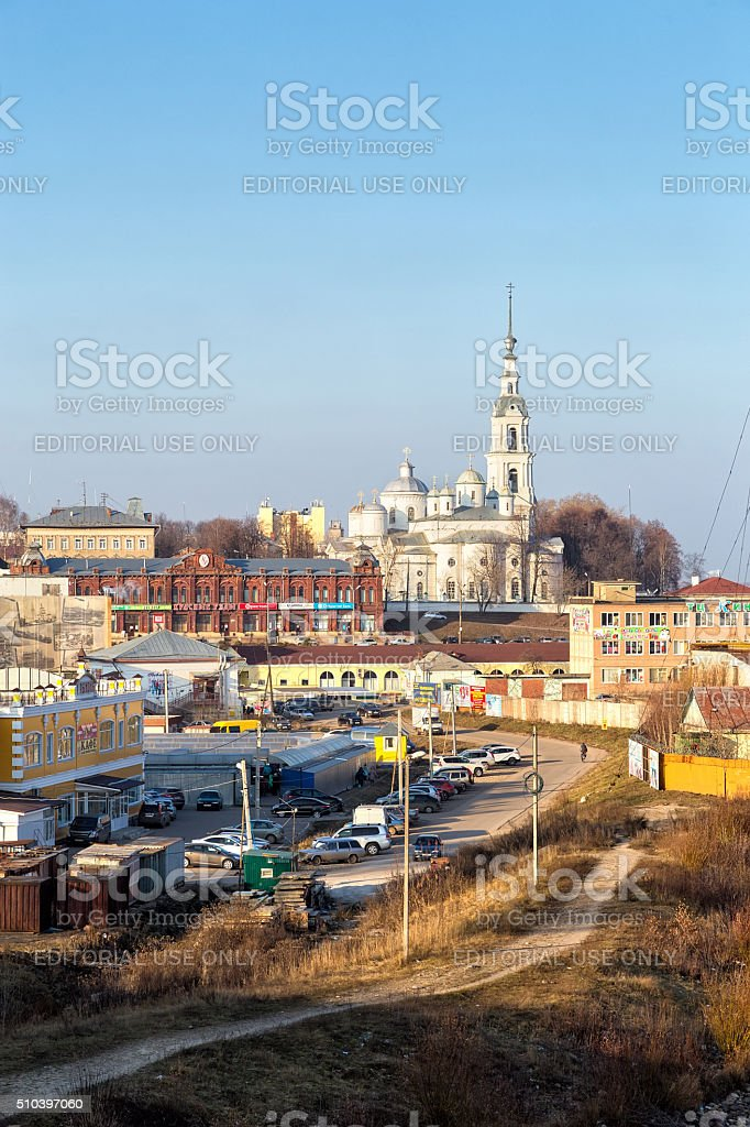 View of the city Kineshma, Russia stock photo