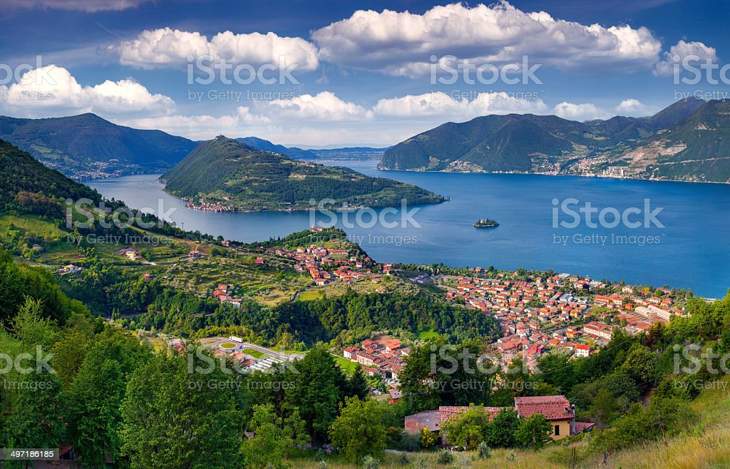 View of the city Marone, a bright sunny day stock photo