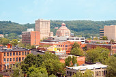 A view of the city of Asheville in North Carolina