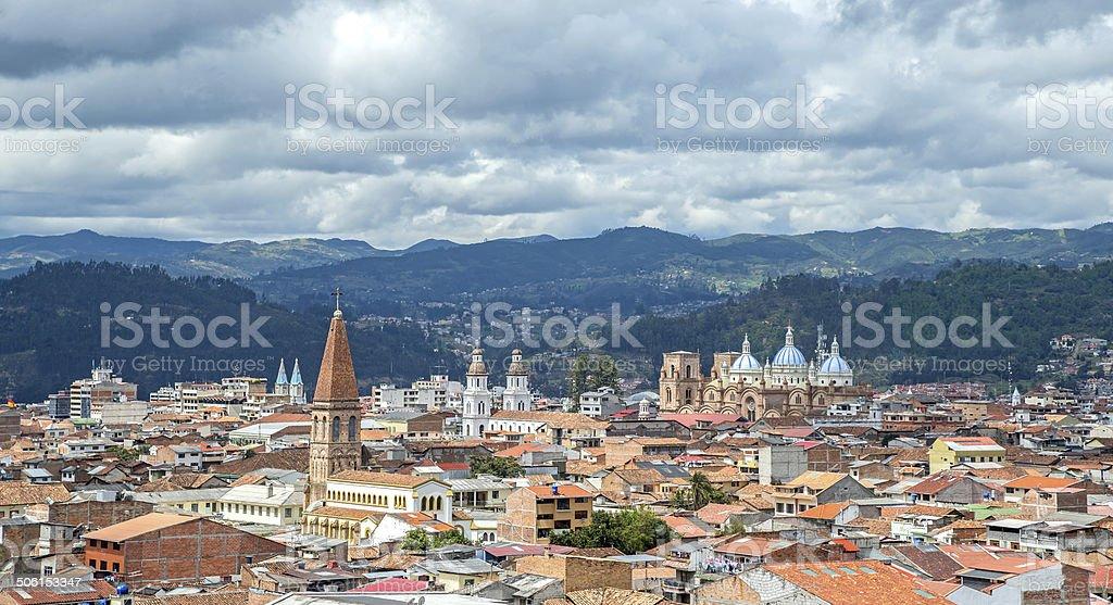 View of the city of Cuenca, Ecuador stock photo