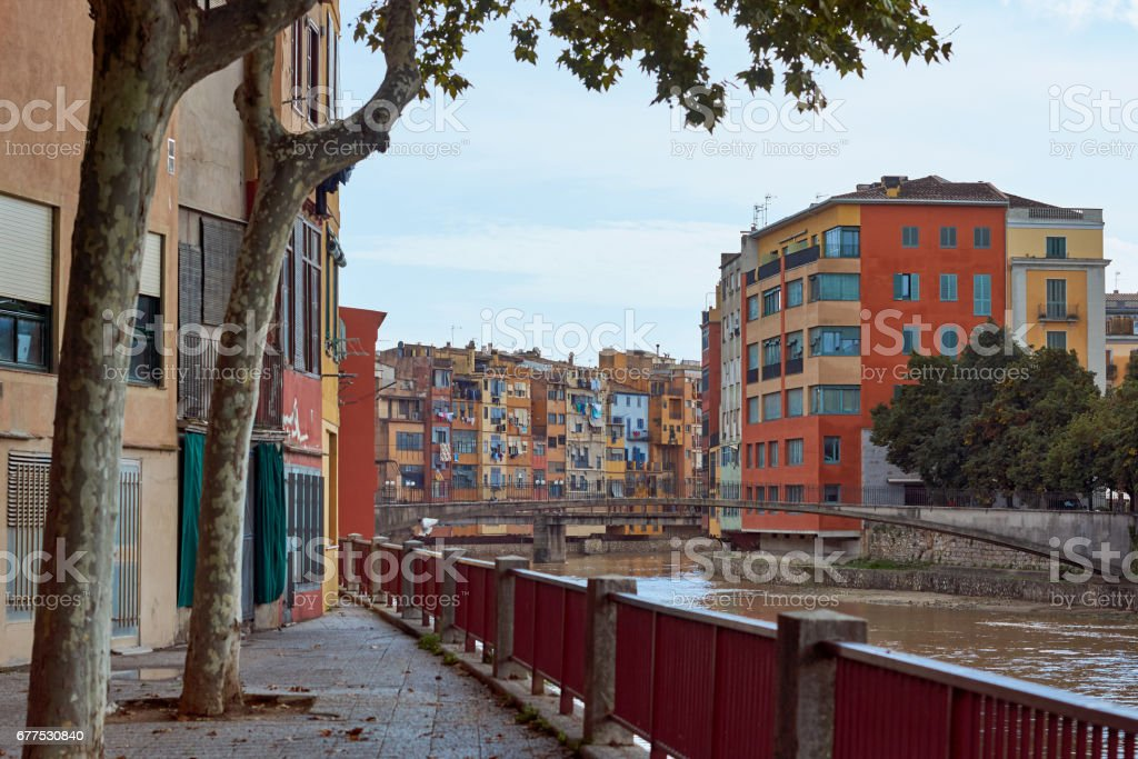 View of the city of Girona, Catalonia, Spain stock photo