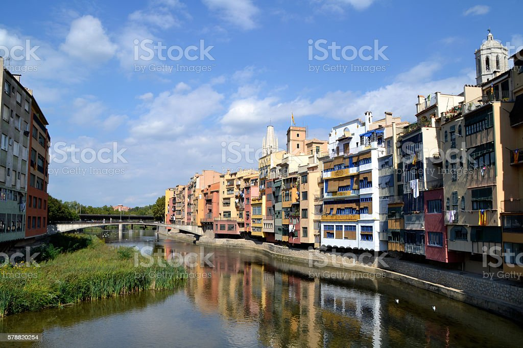 View of the city of Girona stock photo