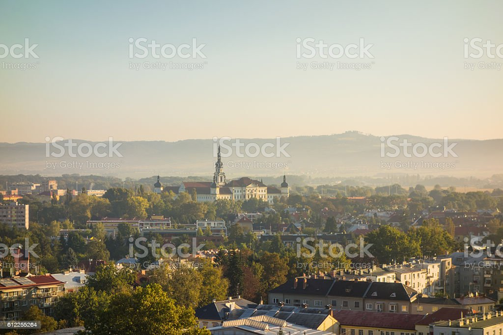 View of the city of Olomouc, Czech Republic stock photo