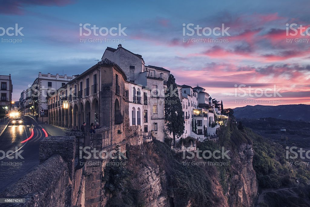 View of the city of Ronda, Andalucia, Spain. stock photo