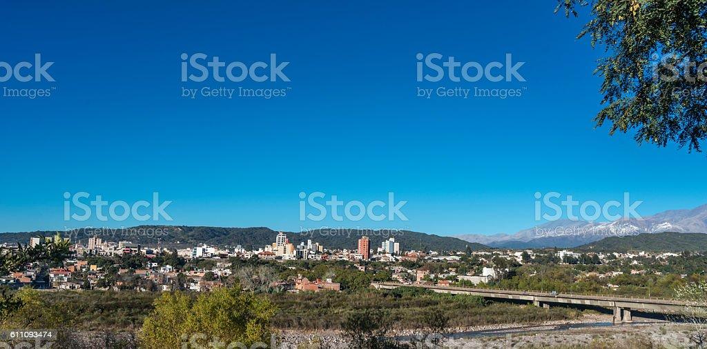 view of the city of San Salvador de Jujuy stock photo