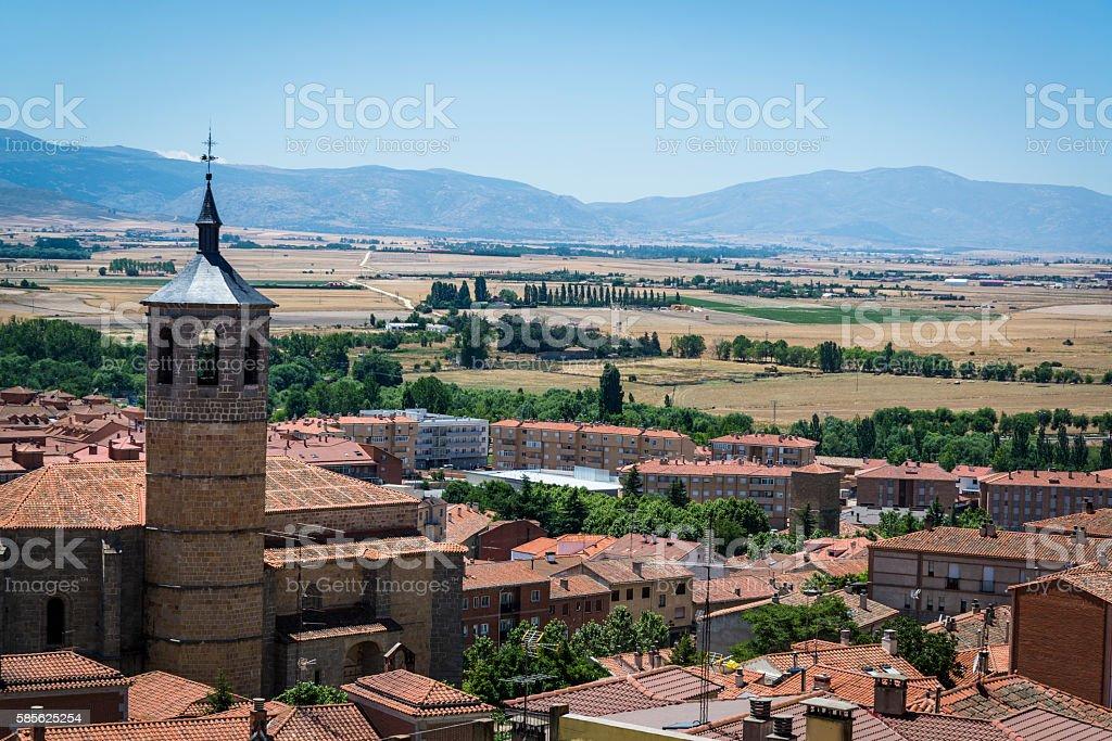 View of the city rooftops, Avila, Castilla y Leon, Spain stock photo