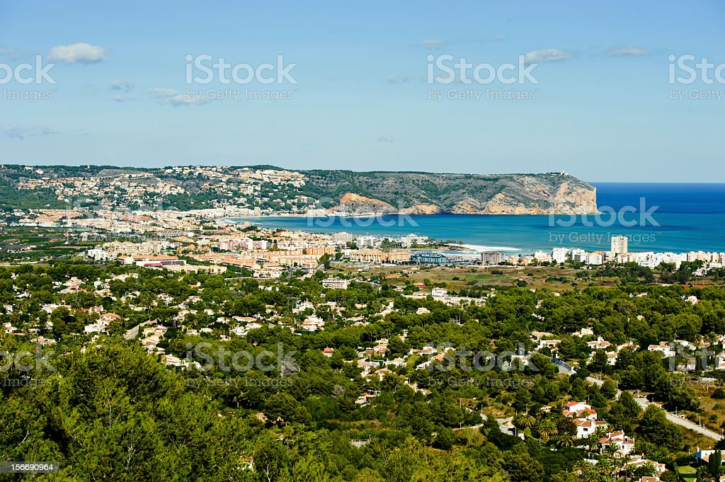 View of the coast in Javea royalty-free stock photo