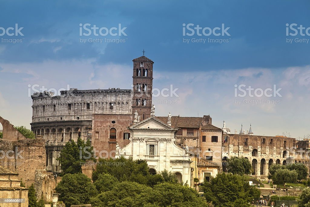 view of the Colosseum royalty-free stock photo