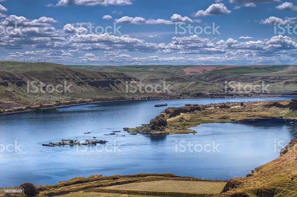 View of the Columbia River stock photo