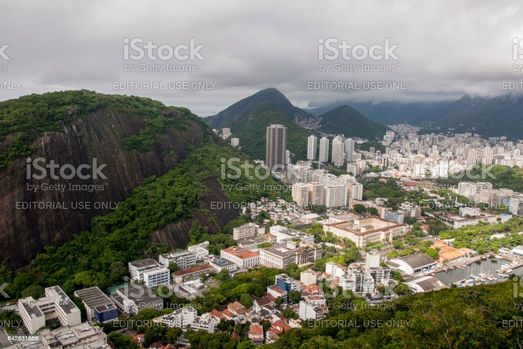 View of the cove of Botafogo in Rio de Janeiro stock photo