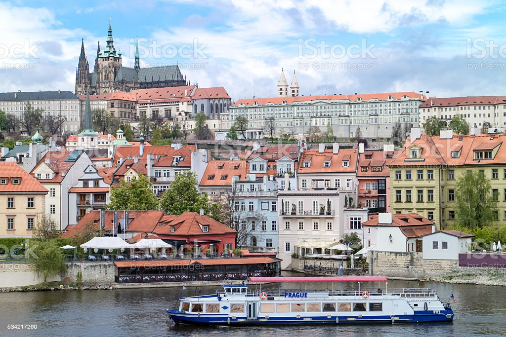 View of the district of the castle in Prague stock photo