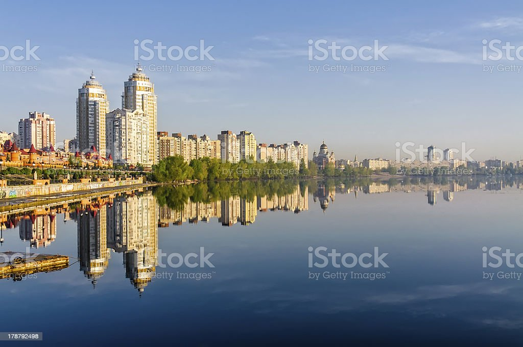 View of the Dnieper River at morning stock photo