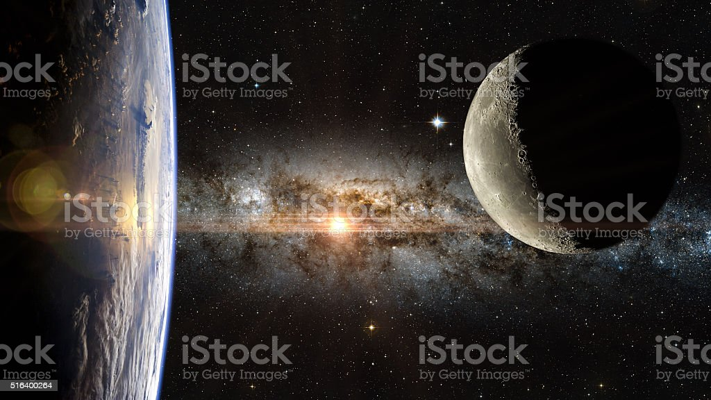 View of the Earth in space. stock photo