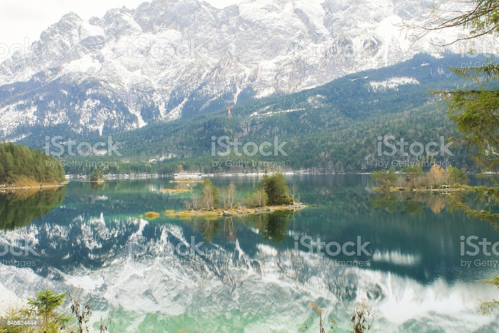 View of the Eibsee stock photo