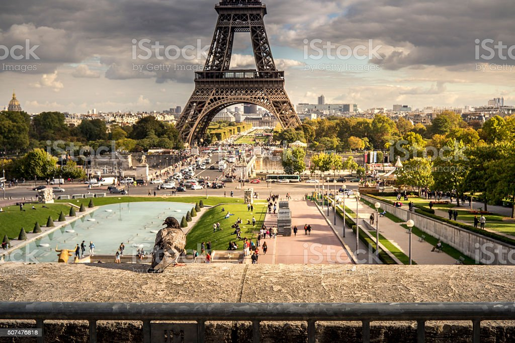 Vue sur la Tour Eiffel stock photo
