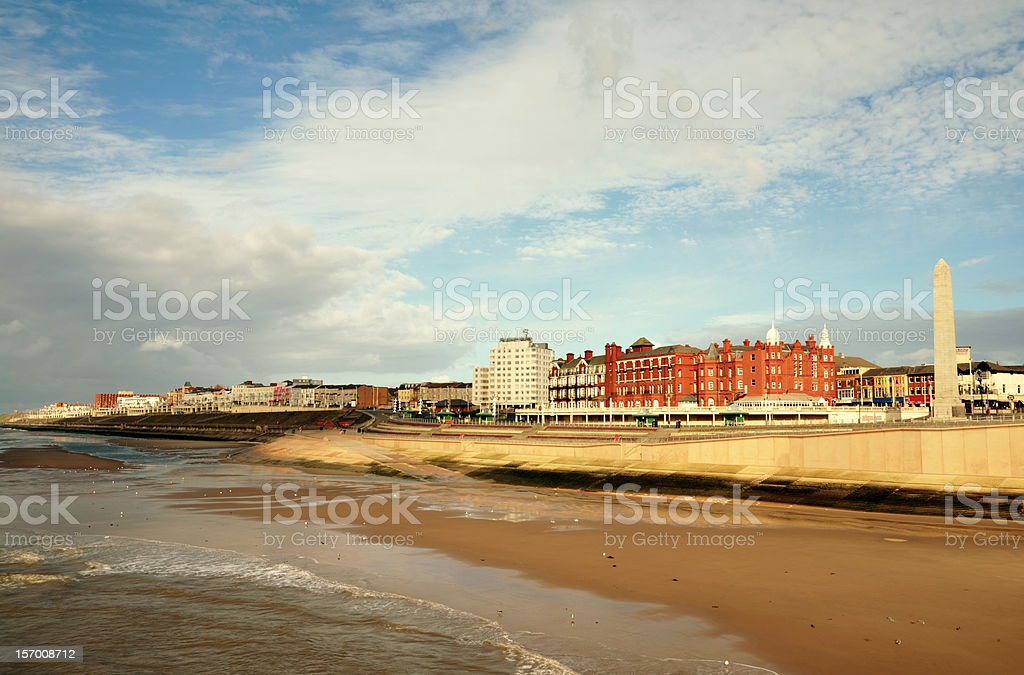 View of the English seaside town, Blackpool. royalty-free stock photo