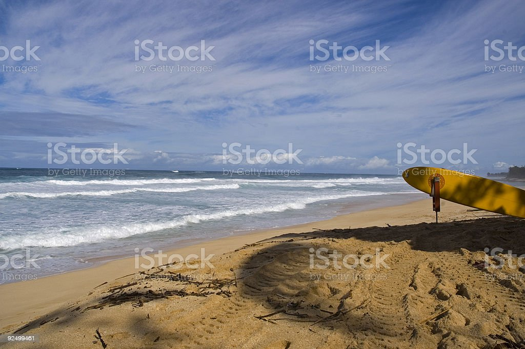View of the famous pipeline in Hawaii stock photo