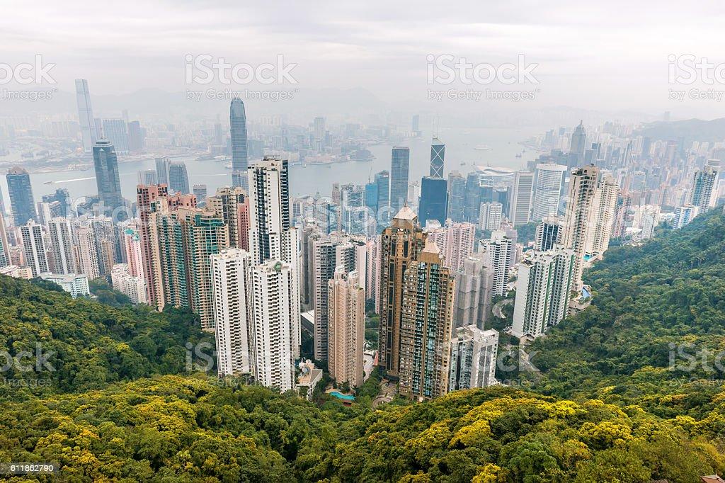 View of the Financial District, Hong Kong,China stock photo