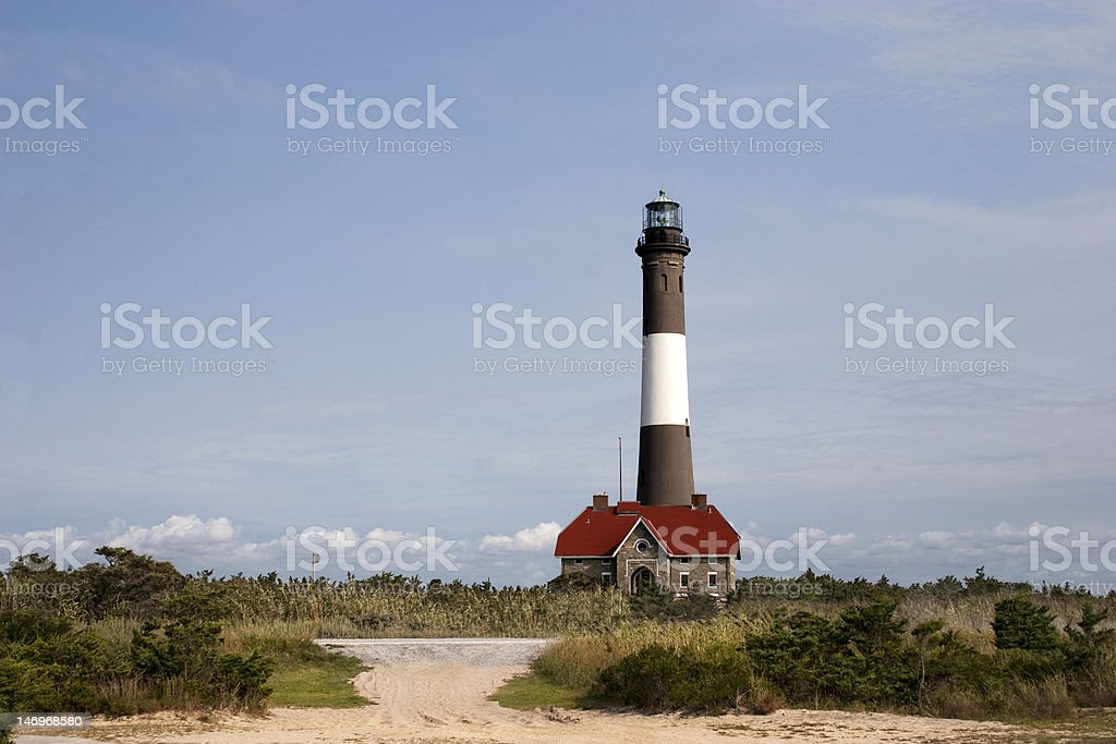 View of the Fire Island Lighthouse stock photo