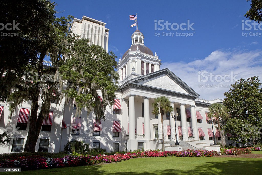 View of the Florida Stare Capitol in Tallahassee stock photo