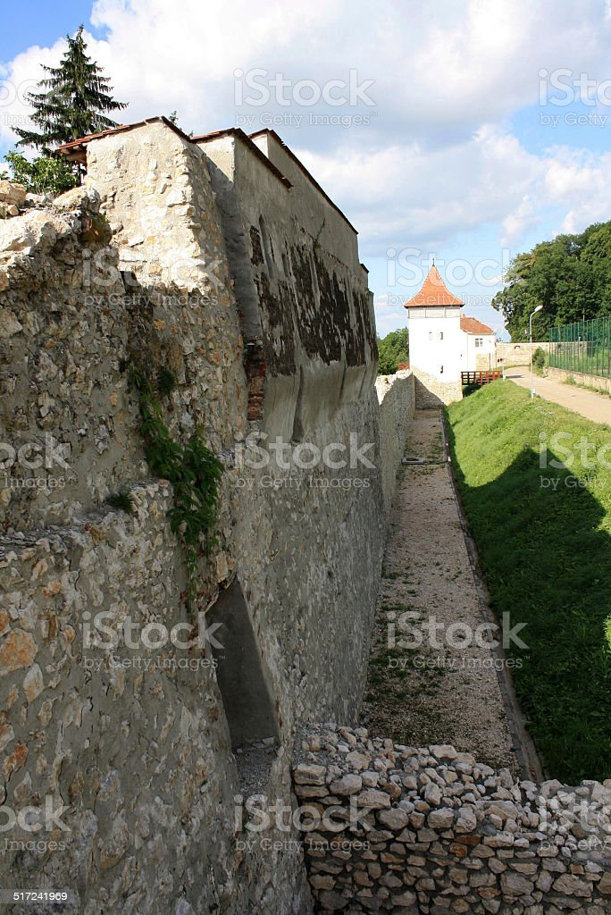 View of the fortification walls recently restored – Brasov stock photo