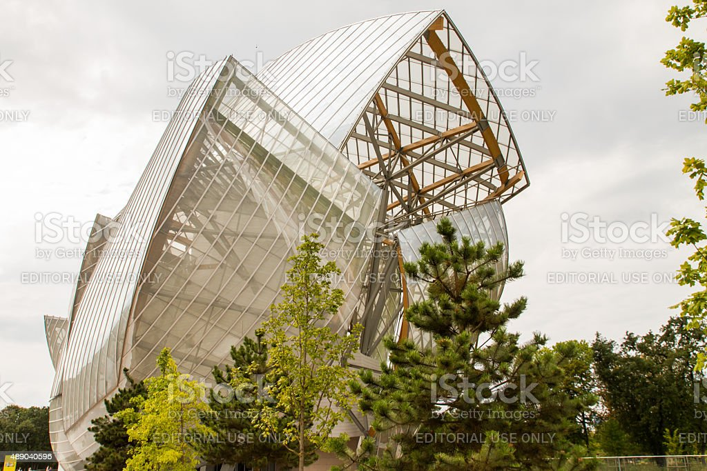 View of the Foundation Louis Vuitton royalty-free stock photo