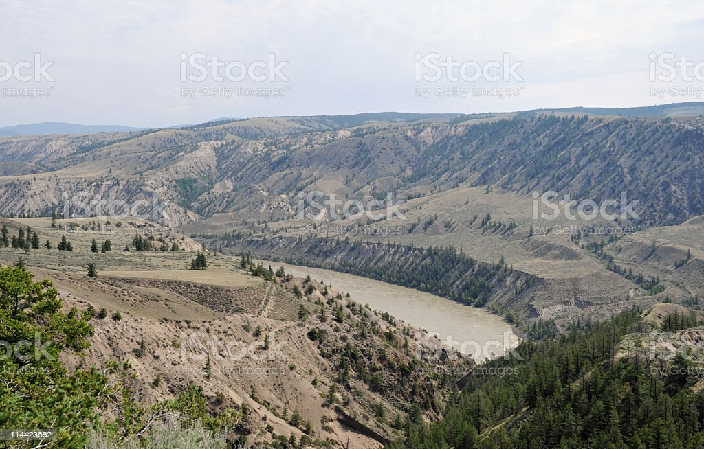 View of  the Fraser River stock photo