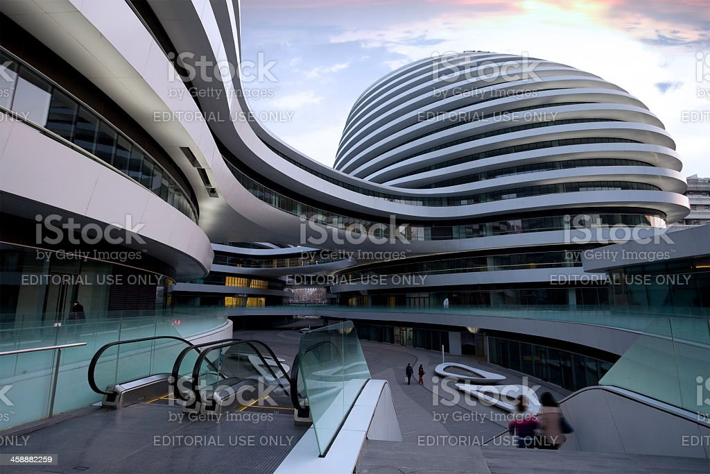 view of the Galaxy SOHO, Beijing,China stock photo
