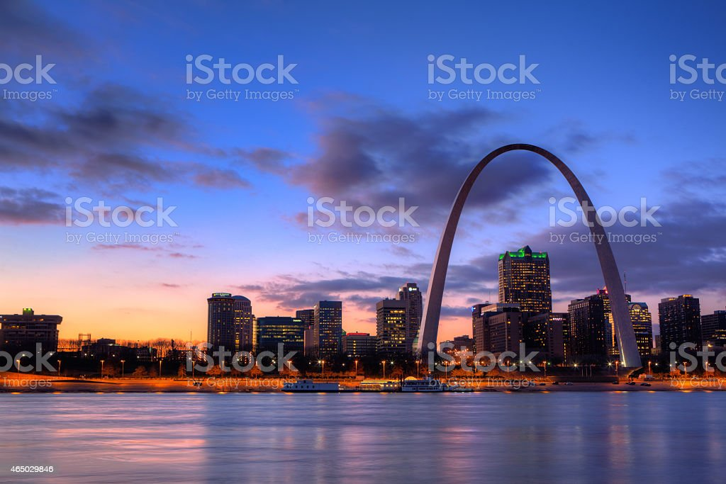 View of the Gateway Arch - St Louis, Missouri stock photo