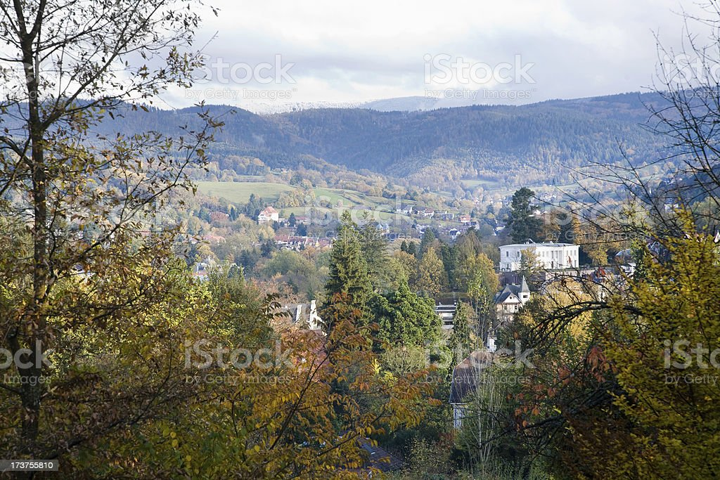 View of the German spa city Baden-Baden royalty-free stock photo
