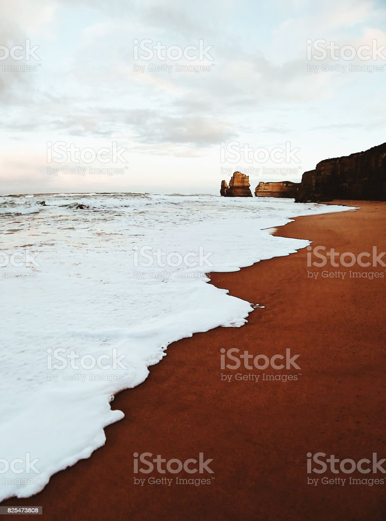 view of the gibson steps coastline in south australia stock photo