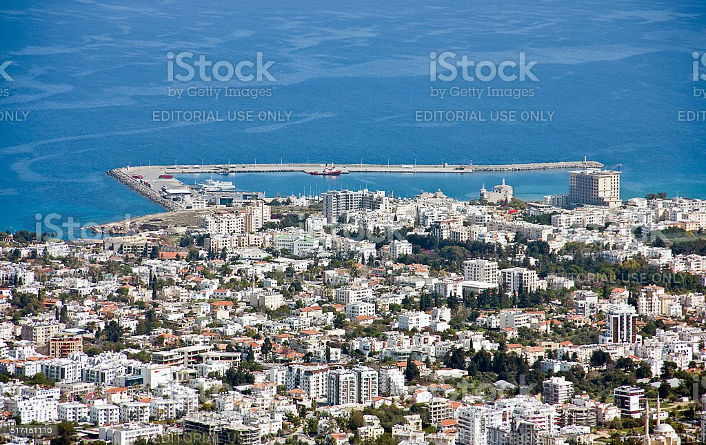 View of the Girne stock photo