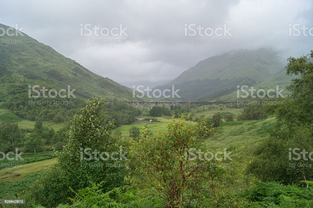 View of the Glenfinnan viacduct stock photo