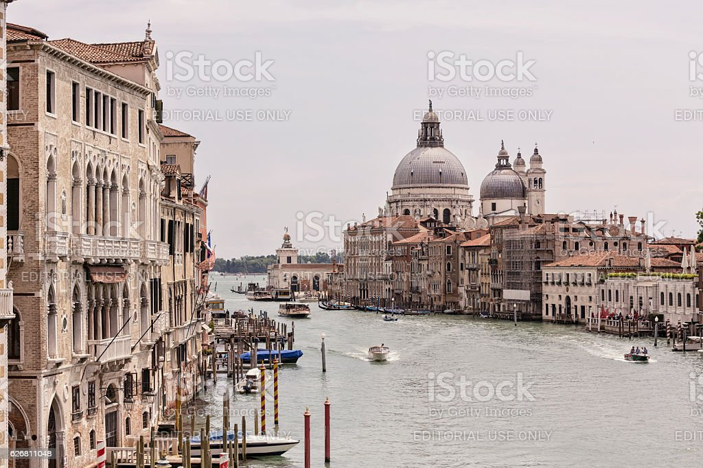 View of the Grand Canal in Venice at day stock photo