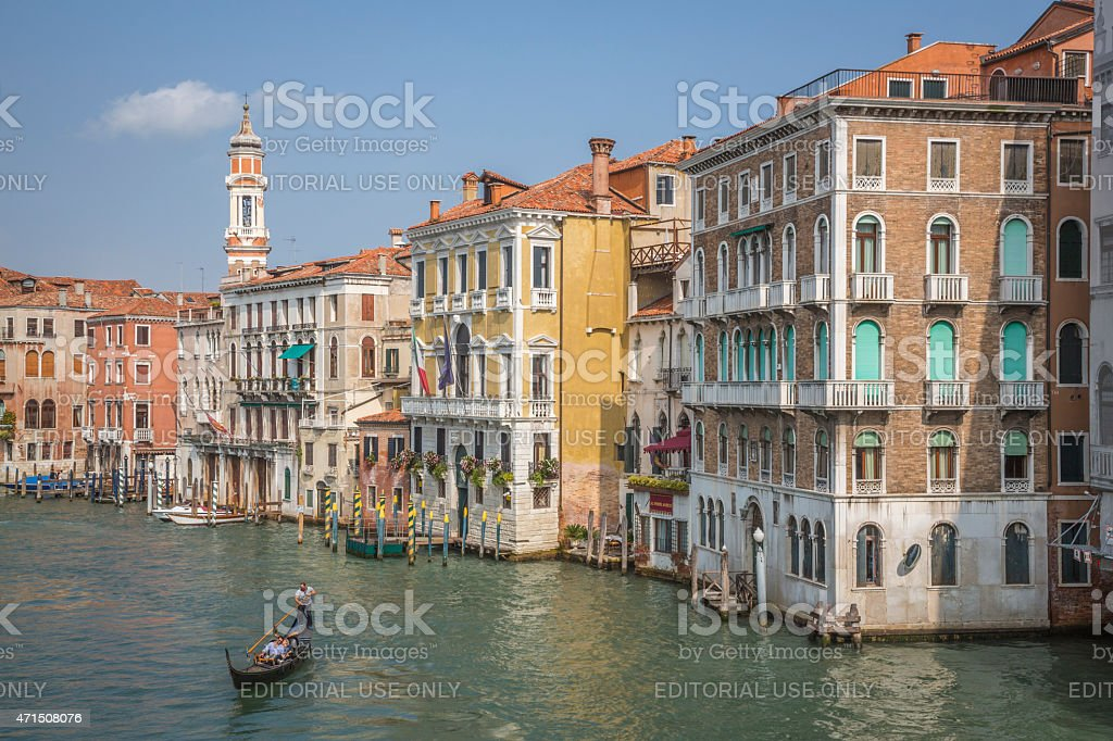 View of the Grand Canal , Venice, Italy stock photo