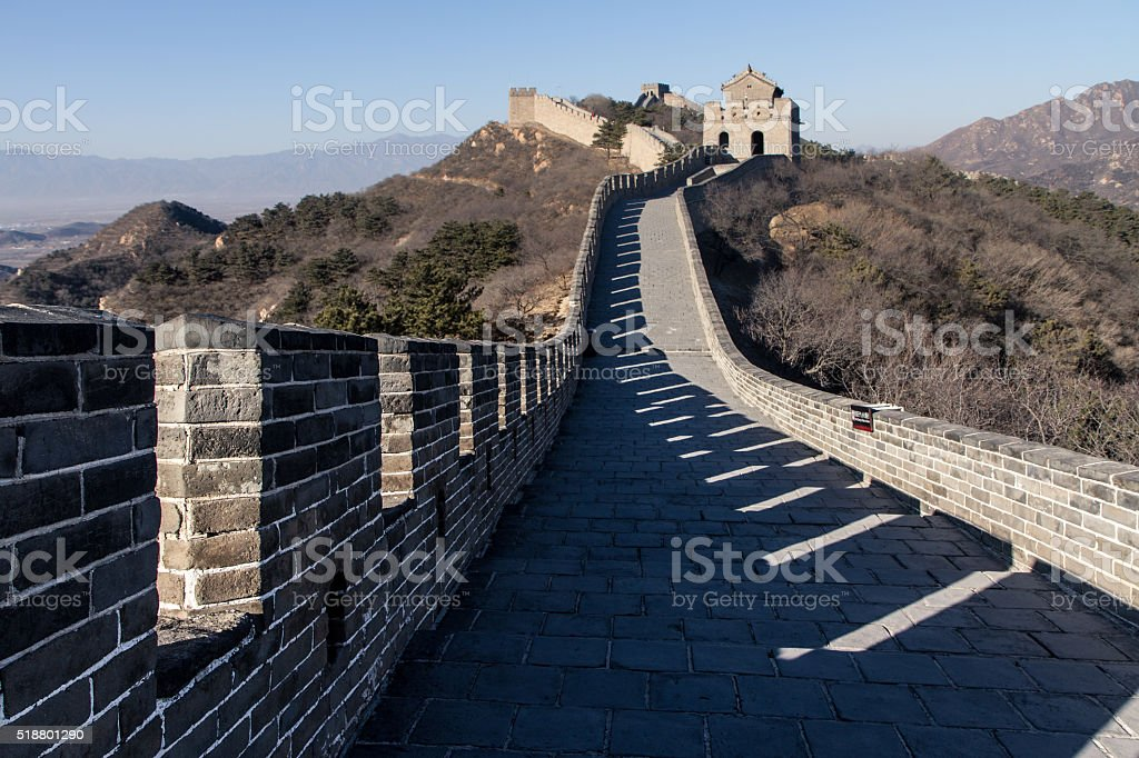 view of the great wall stock photo
