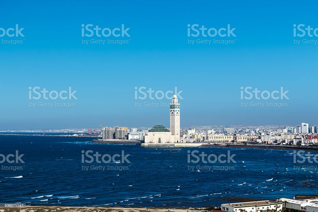 View of the Hassan II Mosque. stock photo