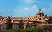 view of the historic center of Rome, Italy