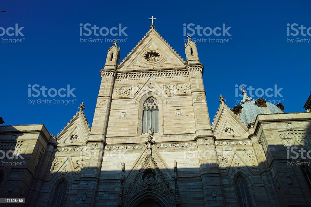 View of the historic church 'Duomo di San Gennaro' stock photo