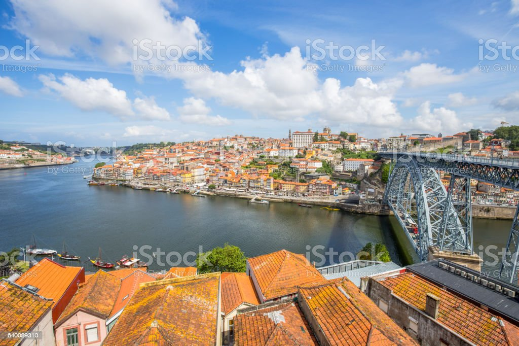 View of the historic city of Porto, Portugal stock photo