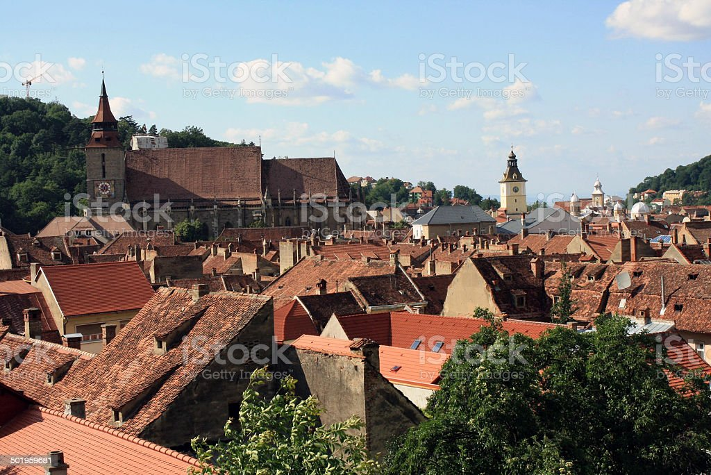 View of the historical center of Brasov stock photo