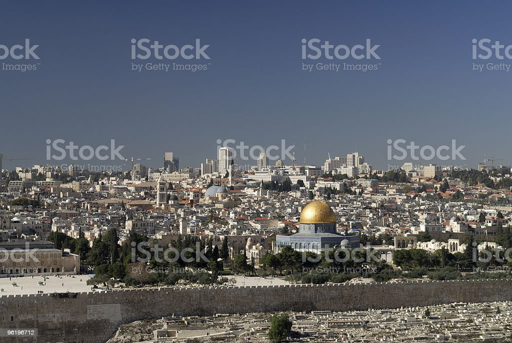 View of The Holy Temple Mount royalty-free stock photo