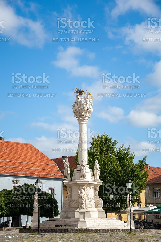 View of the Holy Trinity Monument at Holy Trinity Square stock photo
