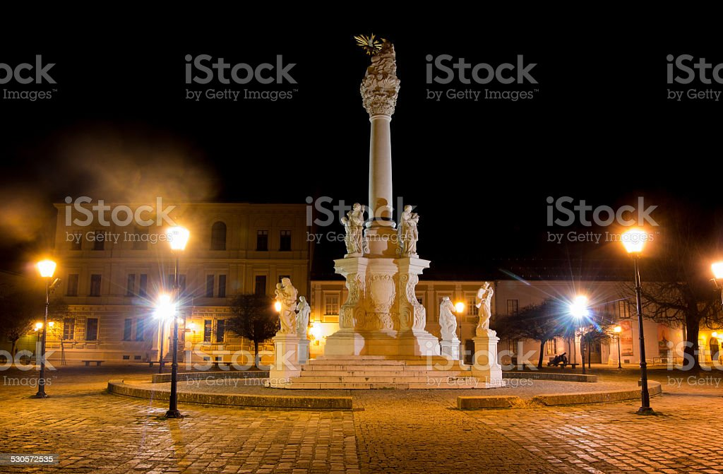 View of the Holy Trinity Square in Osijek stock photo