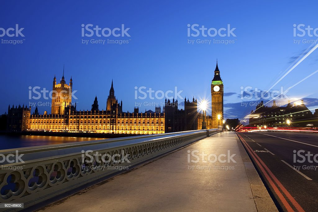View of the House of Parliament from the road leading to it royalty-free stock photo