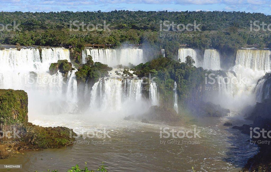 View of the Iguazu Falls royalty-free stock photo