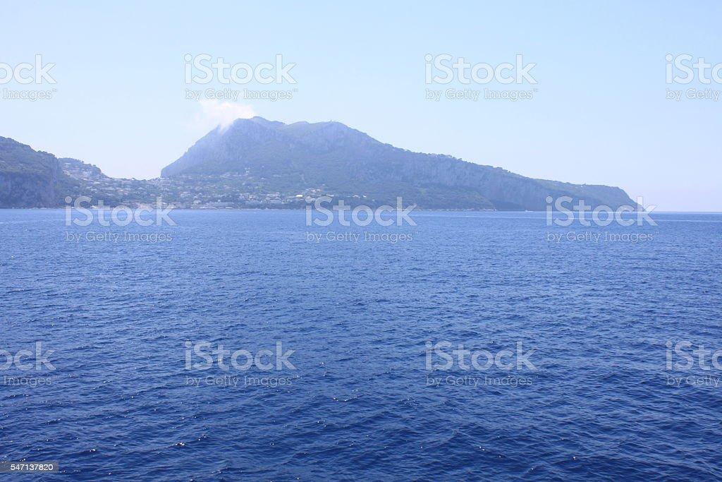 View of the island of Capri. Campania, Italy. stock photo