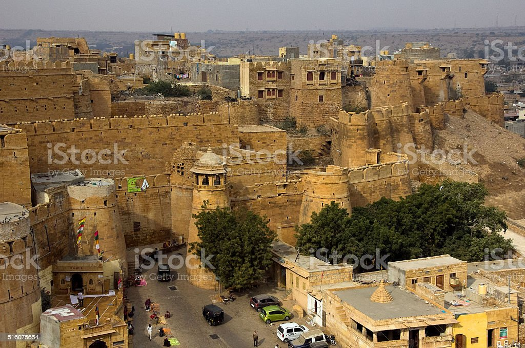 view of the Jaisalmer Fort stock photo