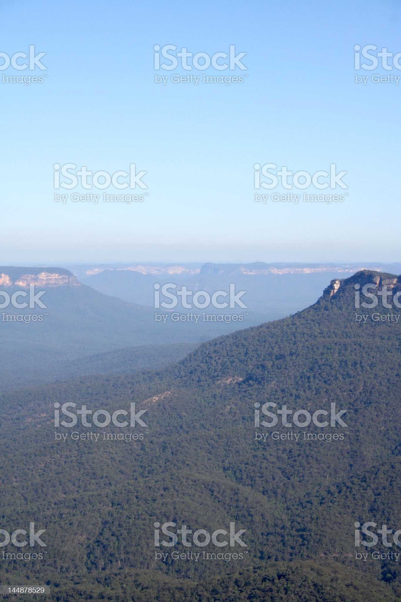 View of the Jamison Valley, Blue Mountains, Australia  royalty-free stock photo