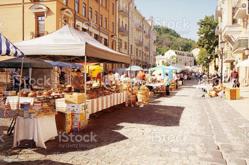 View of the Kiev streets. Ukraine stock photo